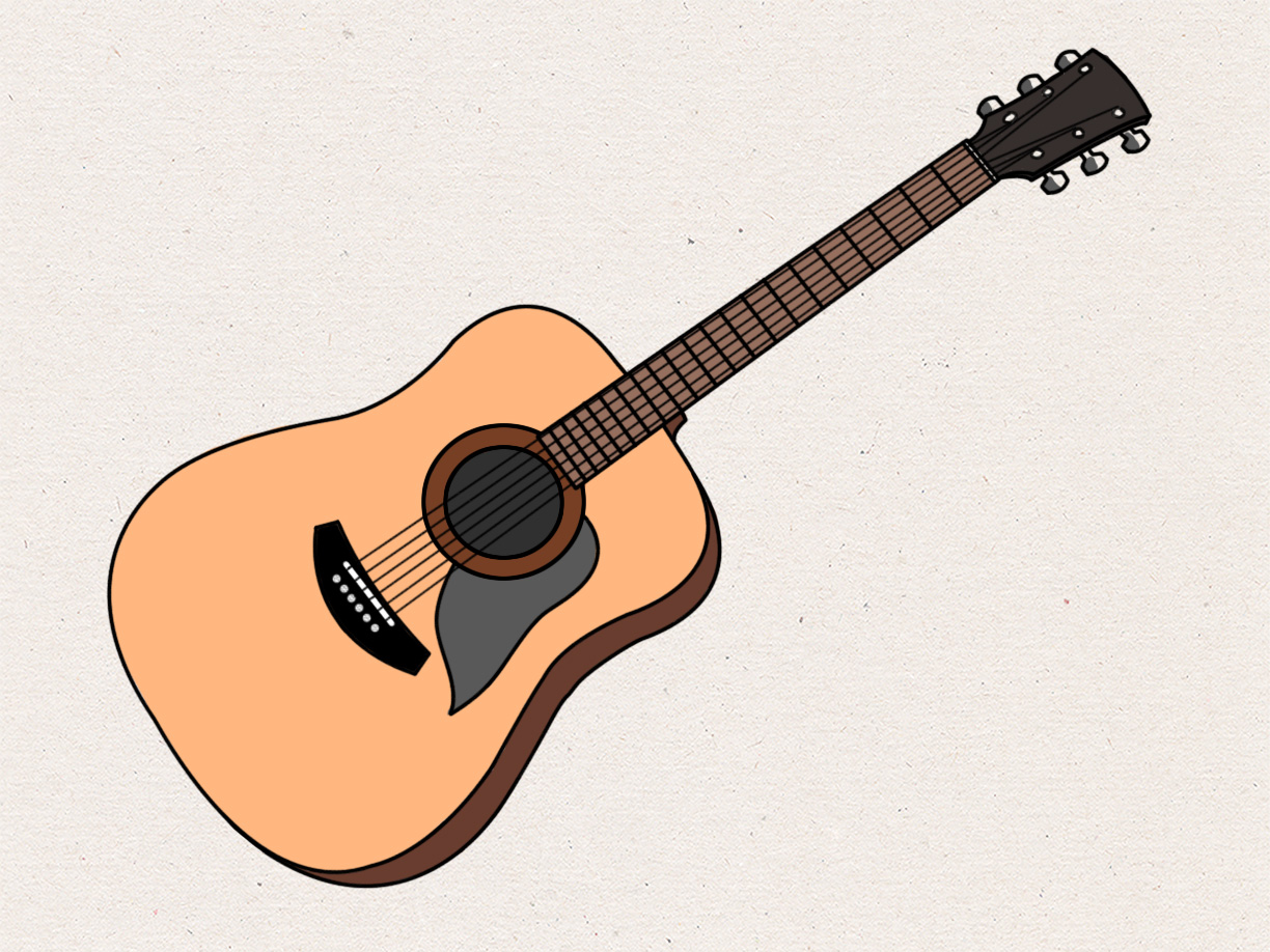 Drawn guitar To (with wikiHow How Pictures)
