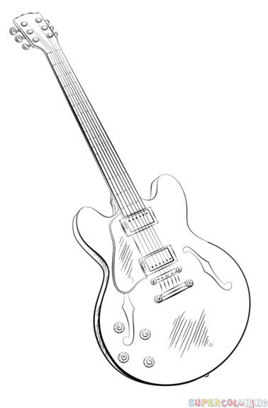 Drawn guitar Draw an guitar by to