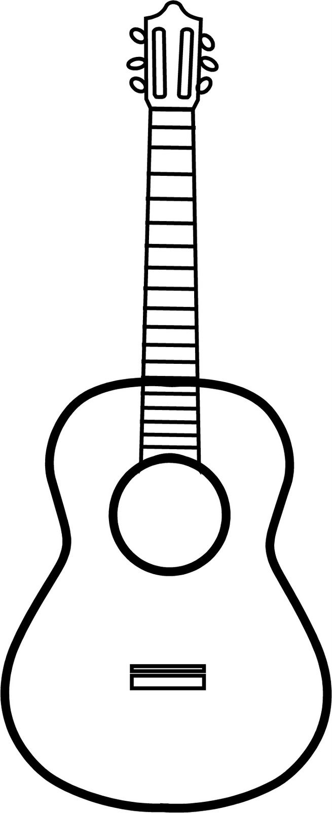 Drawn musical hand holding Go: Outline Best Guitar Guitar
