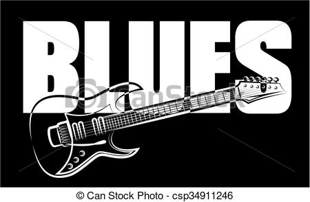 Musical clipart blues instrument #3