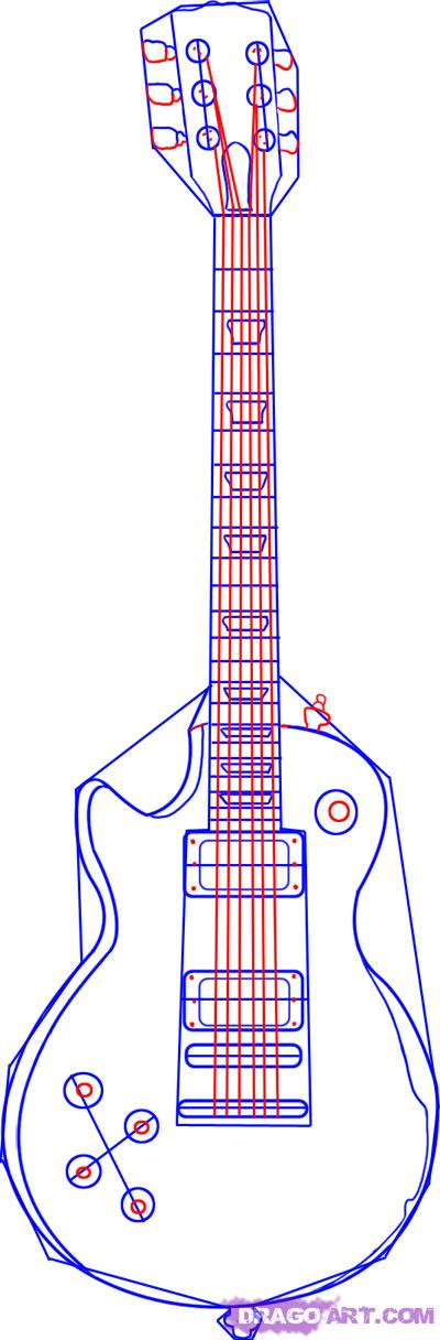 Drawn guitar gibson guitar To electric guitar gibson draw