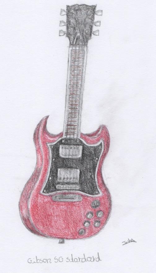 Drawn guitar gibson guitar On SG Guitar by Guitar