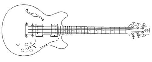 Drawn guitar gibson guitar Guitars Plan plan Greed 2