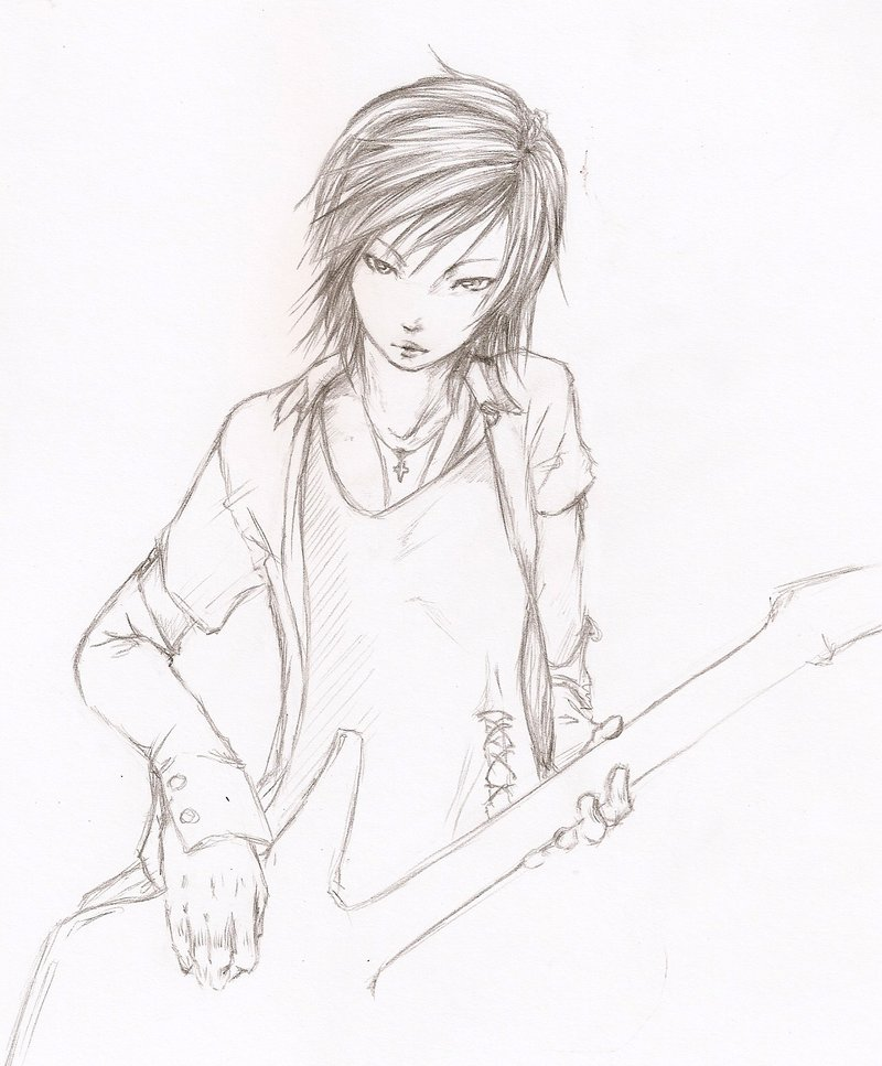 Drawn guitar guitar boy A san with'out' by a