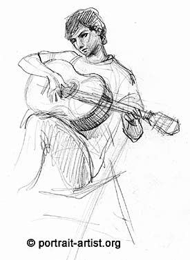 Drawn guitar guitar player Life Portrait Drawn from Player