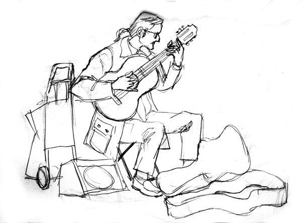 Drawn guitar guitar player Search guitar drawing image guitar