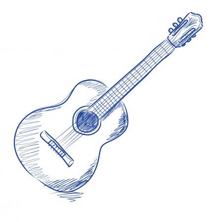 Drawn guitar illustration Drawing illustration sketch  Ideas