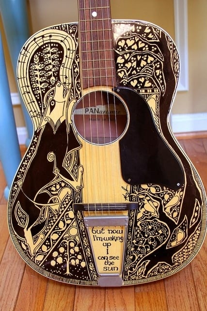 Drawn guitar magic marker Improve 34 Can Things Sharpie