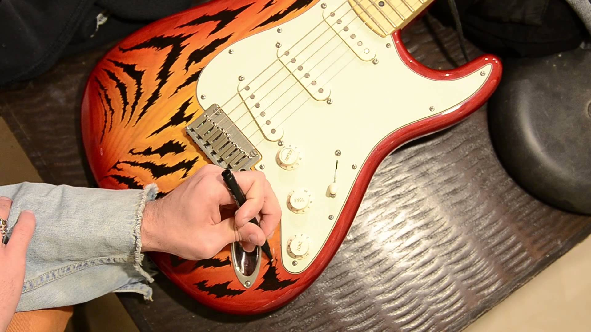 Drawn guitar magic marker In my on Stratocaster my