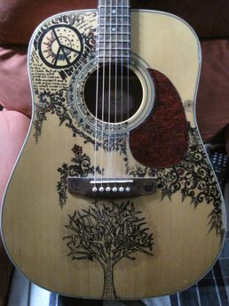 Drawn guitar magic marker Art Guitar art Sharpie on