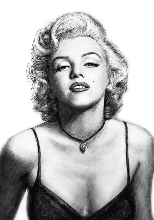 Drawn portrait marilyn monroe Art Drawing Portrait Kim by