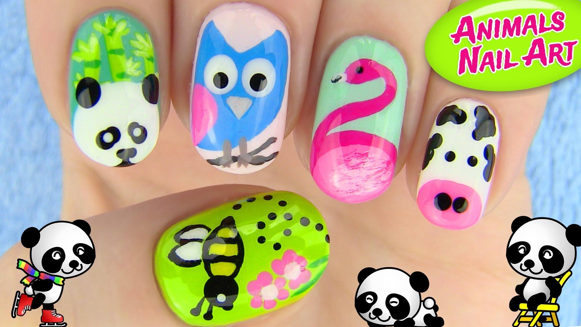Drawn nail cartoon Designs Art Nail 5 YouTube