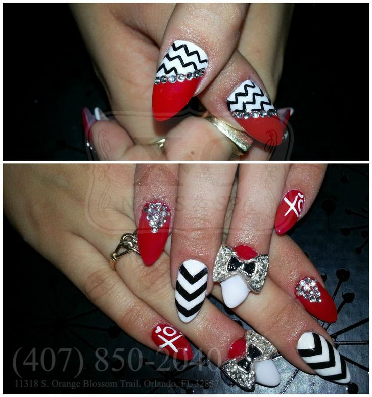 Drawn nail red Nails / Design Nails &