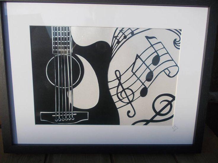 Drawn guitar paper Best Byers Pinterest acoustic cutting