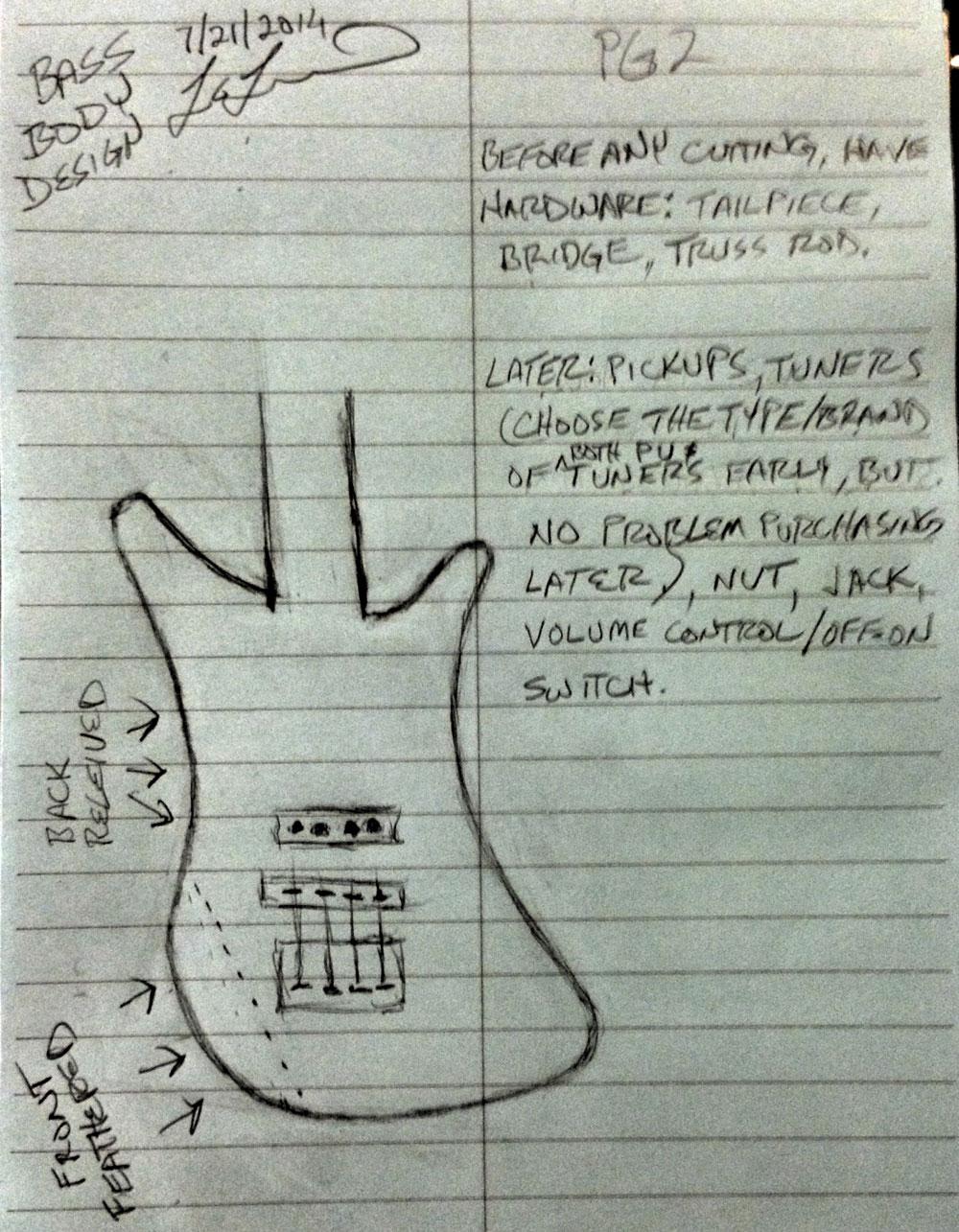 Drawn guitar paper Lee Electric shadows Considerations Drawn