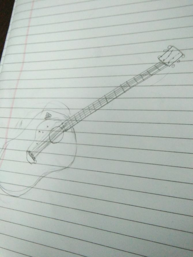 Drawn guitar paper WikiHow Guitar: ago Pictures) Uploaded
