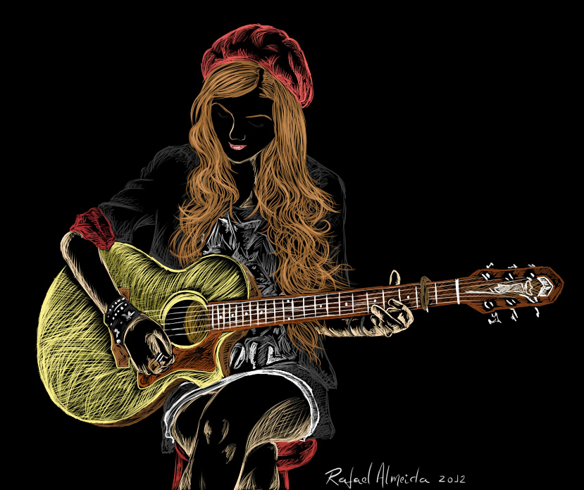 Drawn guitar play guitar Guitar deviantART KOLLAGE playing Guitar