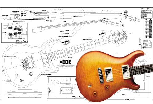 Drawn guitar prs guitar Download from wiring  Prs