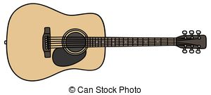 Drawn guitar realistic  a EPS Stock real