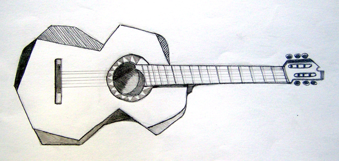 Drawn guitar realistic Since my life Blog Reflections