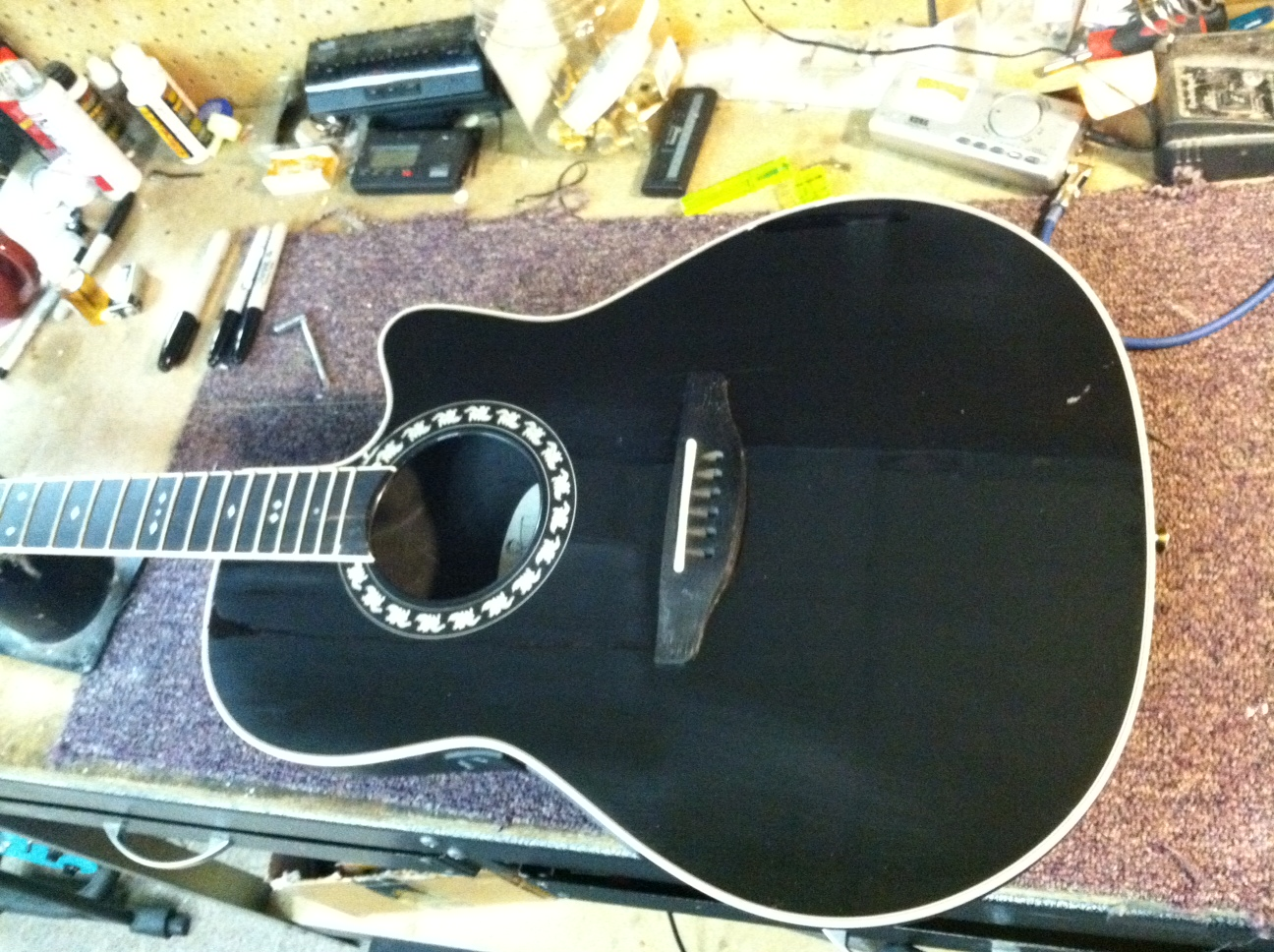 Drawn guitar refinish The of finish also glued