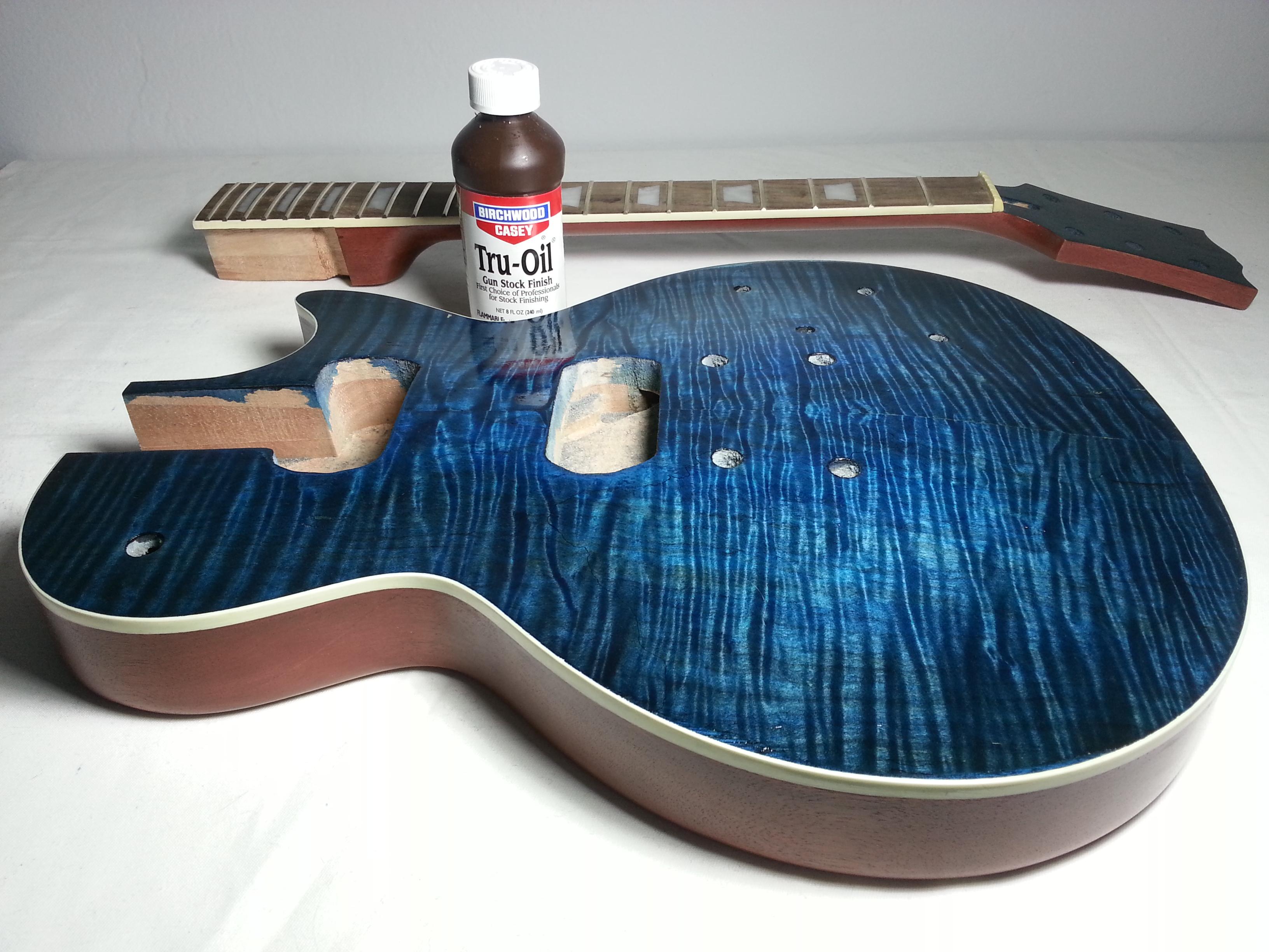 Drawn guitar refinish 3: Guitar Tru Guitar Kit