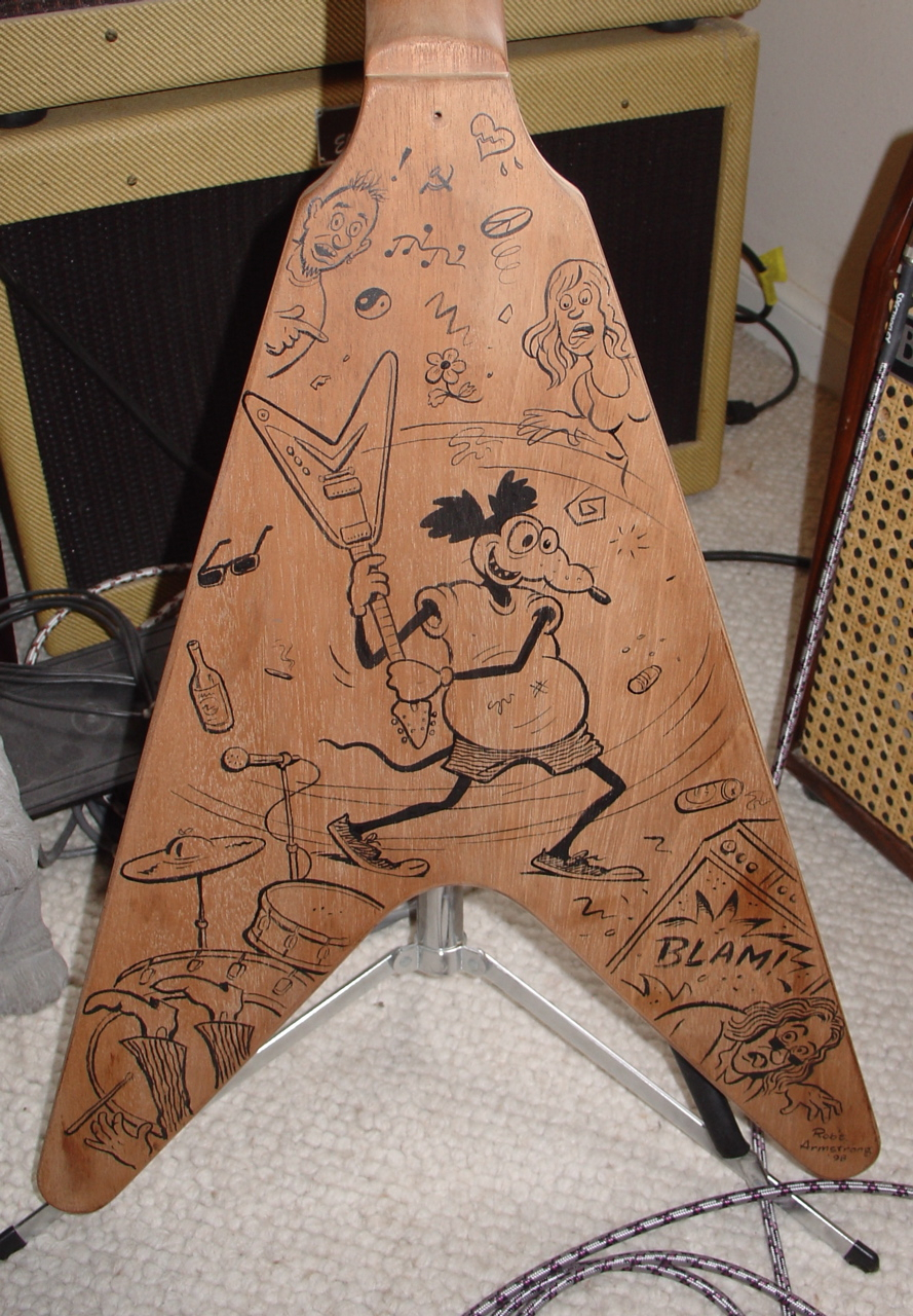 Drawn guitar refinish Drawings it show One a