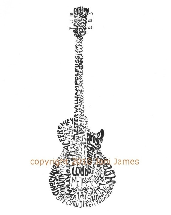 Drawn guitar the word love R more Pinterest of W