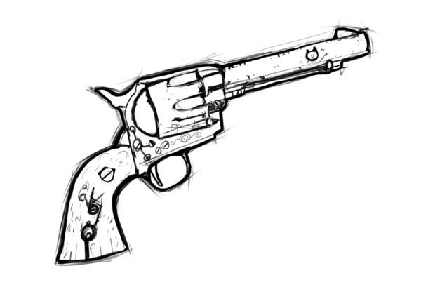 Drawn pistol vintage Jhas777 on by drawn by