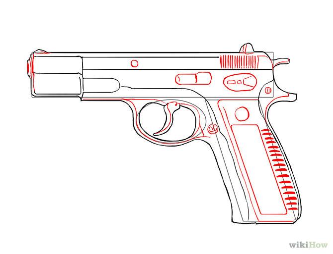 Drawn gun Draw how a glock gun