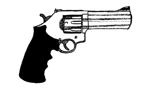 Drawn gun Draw trying drew objects book