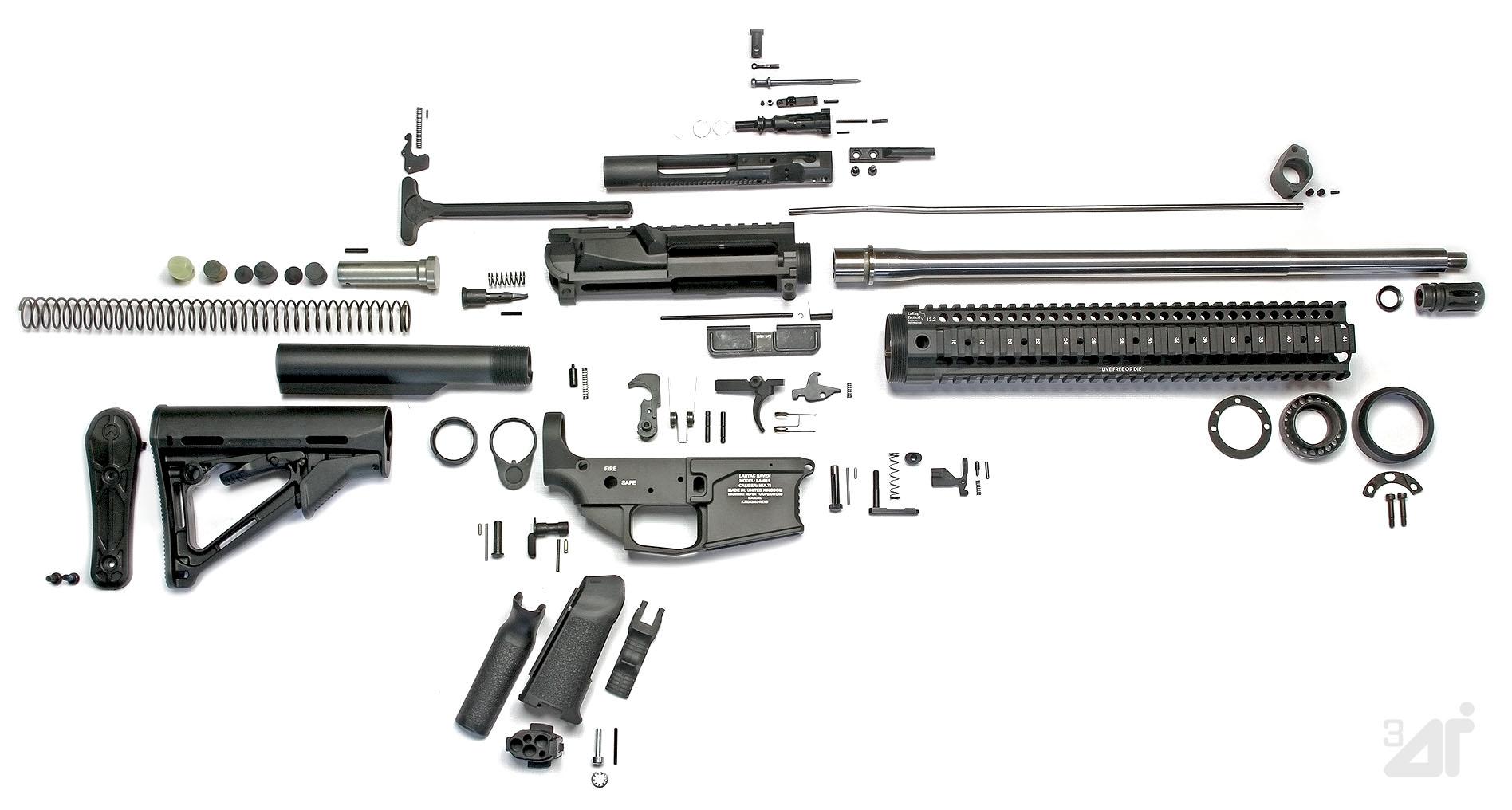 Drawn gun ar 15 View) AR (exploded 15 15