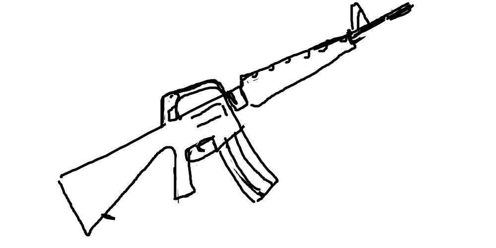Drawn gun ar 15 An OP's and submission Can
