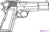 Drawn gun handgun Guns Edit Drawings Of Cool