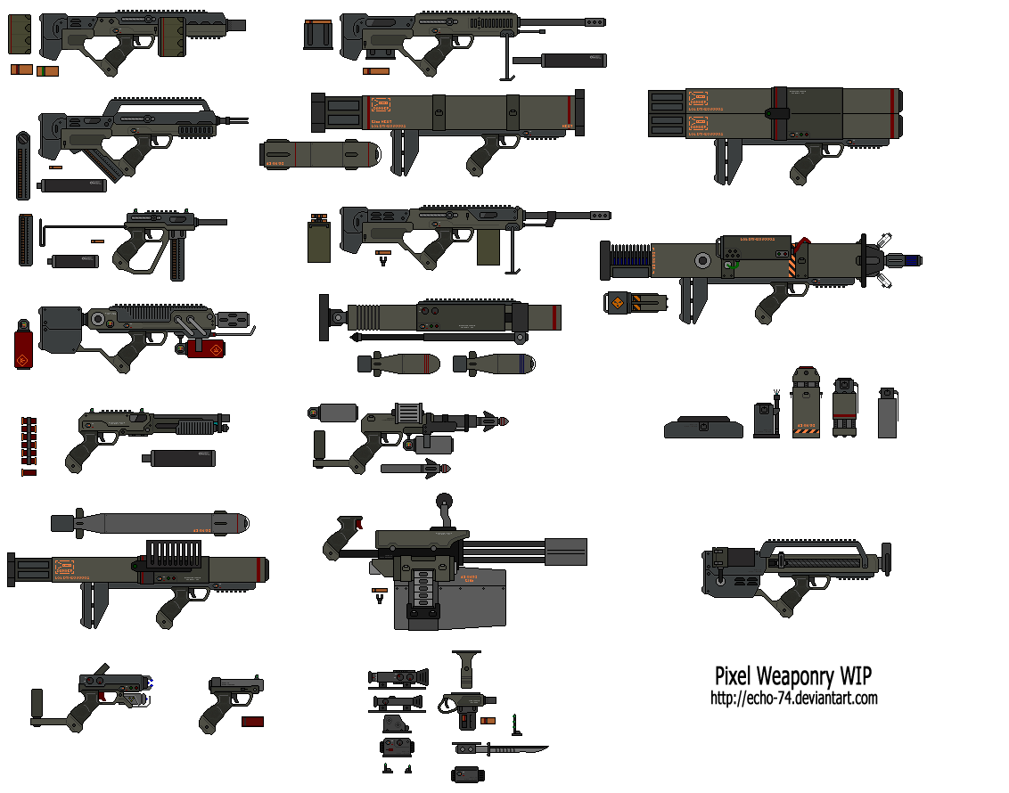 Drawn gun isometric pixel Pixel Pixel DeviantArt by on