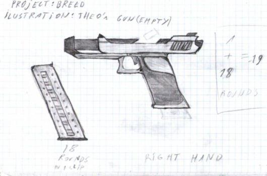 Drawn gun pencil Pistol Member Edge) (Shattered Artwork