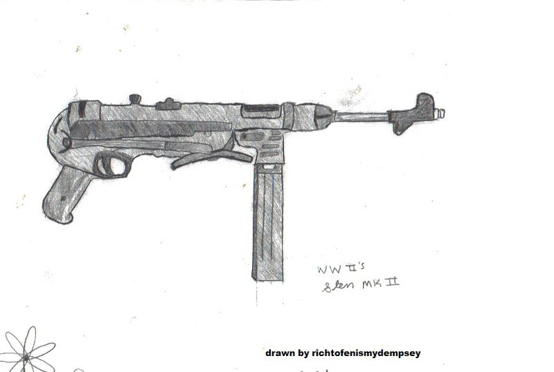Drawn gun pencil Pencil gun drawing Instagram Mulpix
