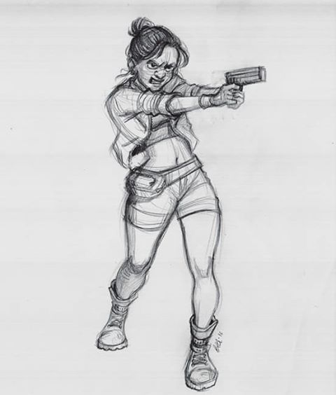 Drawn gun pencil Images Character Sketch best sketch