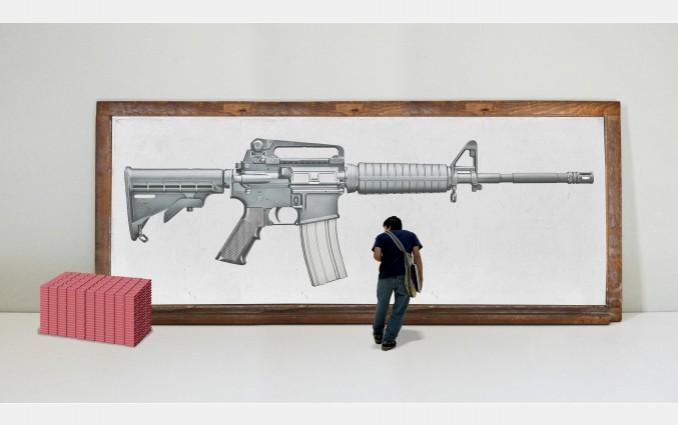 Drawn gun pencil  sketch to AR Bokor