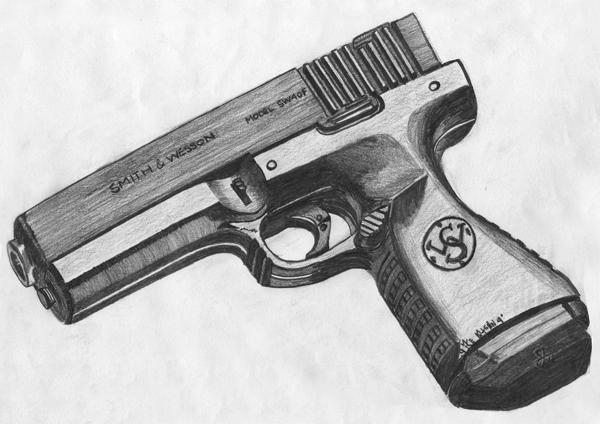 Drawn gun pencil EARLY AGE net mikematson portfolio