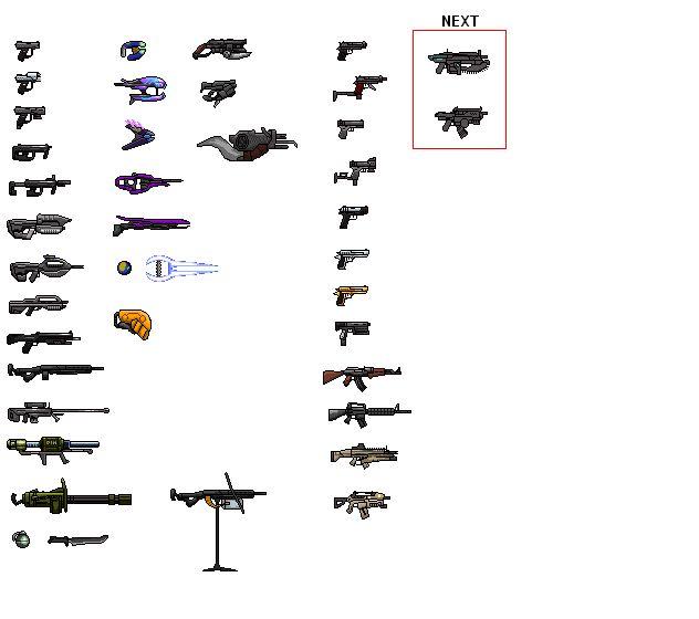 Drawn gun sprite sheet Halo_weapon_sprite_sheet_1_by_drakojan14 Pinterest weapons (632×560) (632×560)