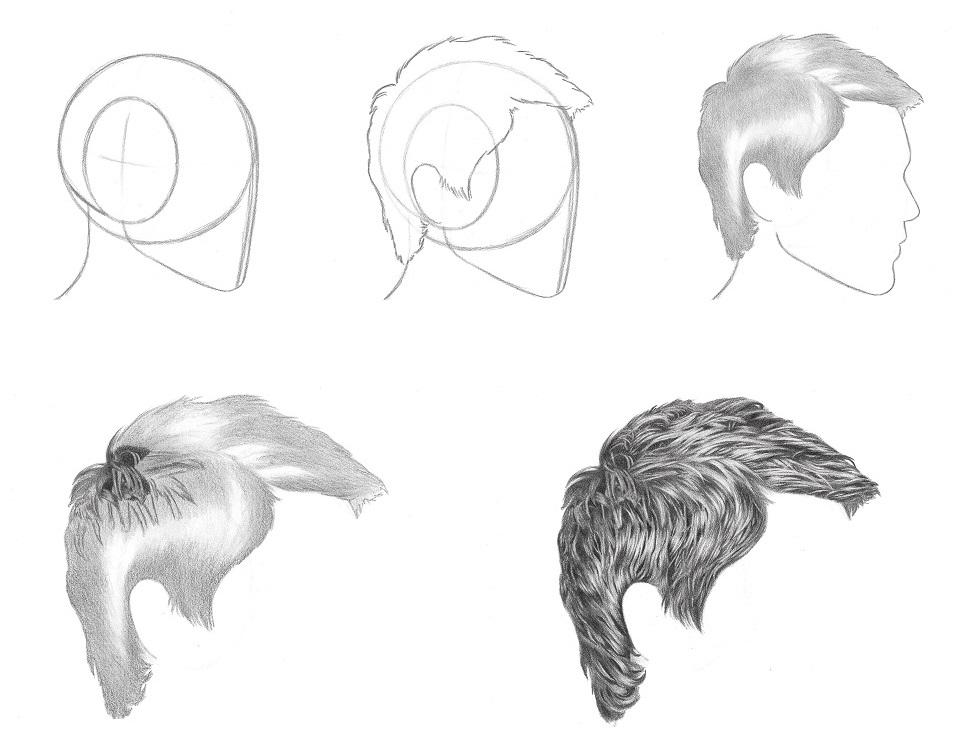 Drawn hair RFA short tutorial draw hair