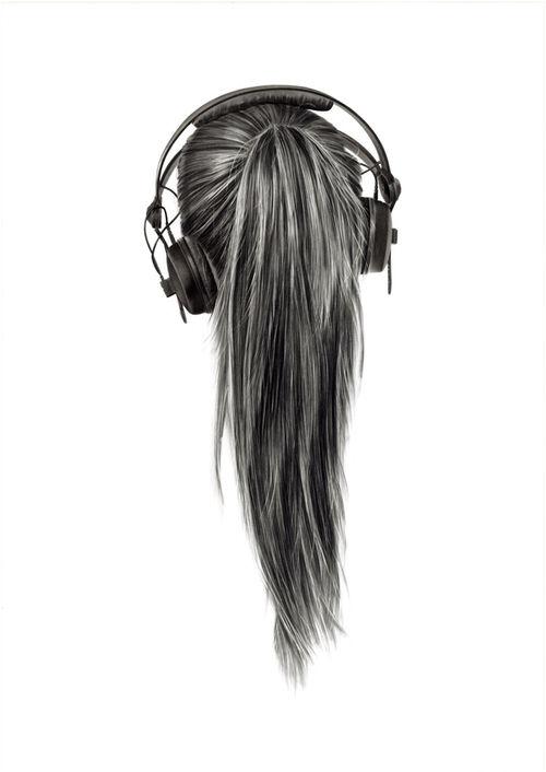 Drawn headphones Carbon Drawing Yanni  floros