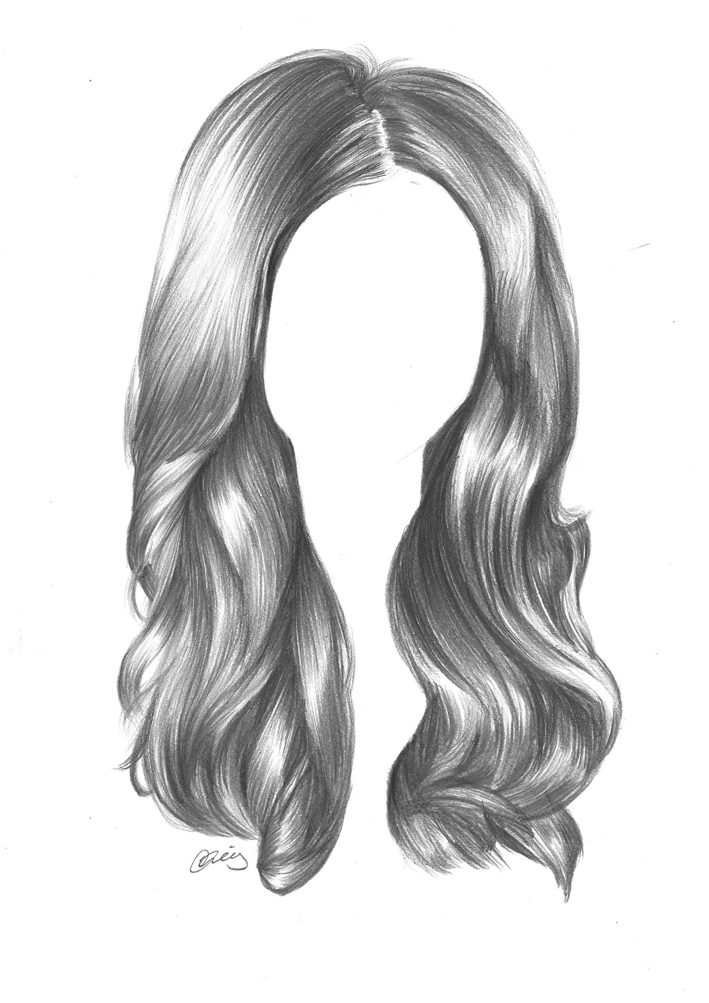 Drawn hair Hair pencils art graphite to