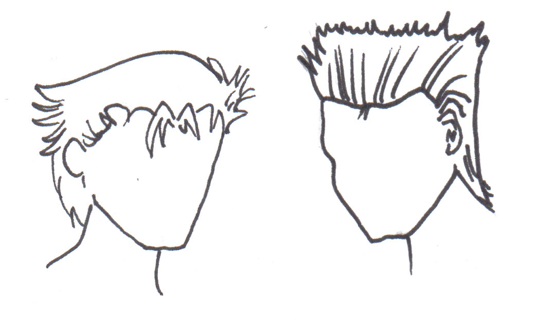 Drawn hair simple #11