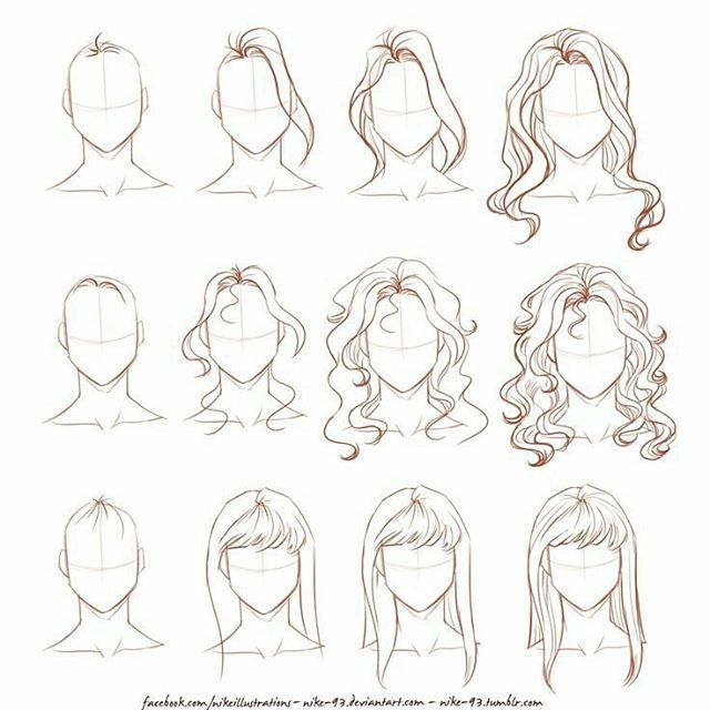 Drawn hair simple To 20+ to How Follow