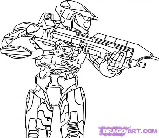 Drawn halo #6