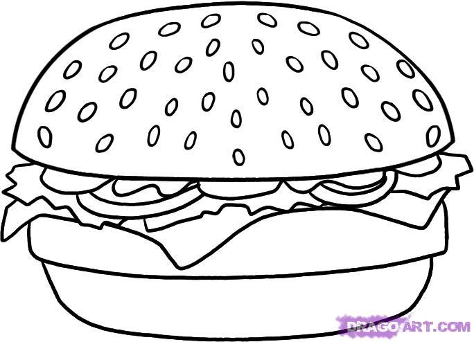 Drawn hamburger #1