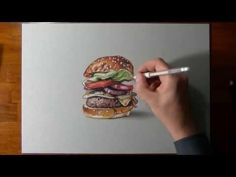 Drawn hamburger #8