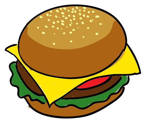 Drawn hamburger #10